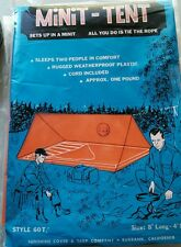VTG MINIT-TENT & Campers Ground Cloth by Sunshine Cover & Tarp Co NOS