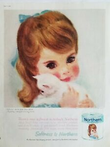 1961-Northern-bathroom-toilet-tissue-pastels-little-girl-white-kitten-ad