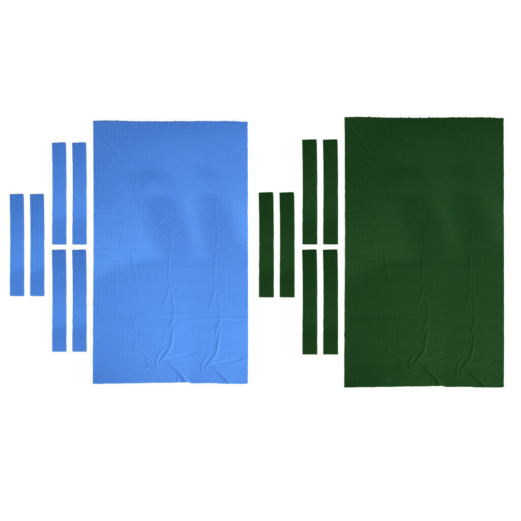 2 POOL Tovaglia con 6 strisce di feltro per 9ft Snooker Biliardo accessorio