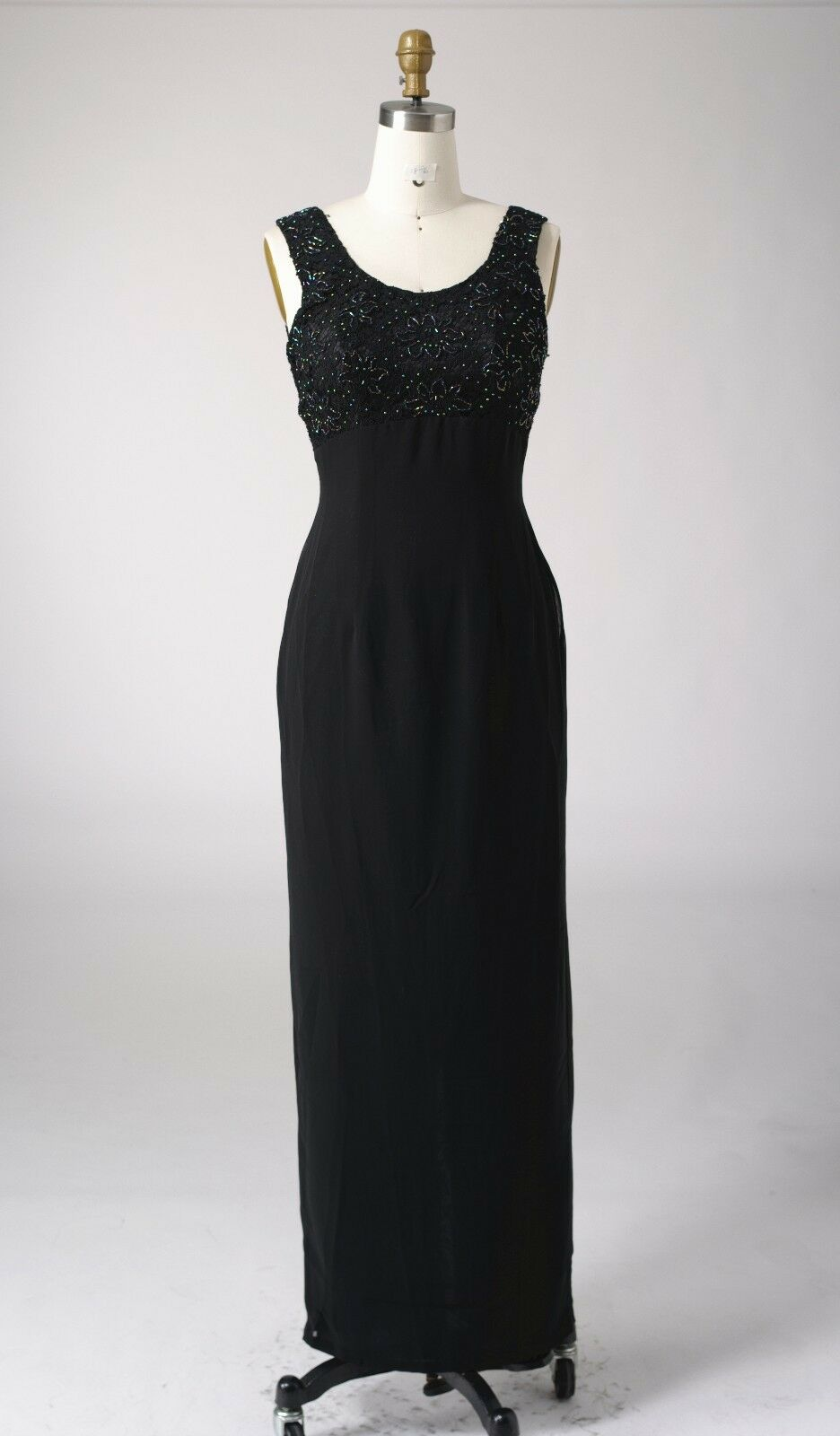Size 8 Ladies' Lace Beads Sequins Cocktail Evening Formal Party Long Maxi Dress