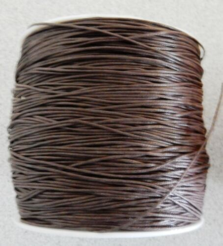 combined post savings dark brown 10 metres x 1mm thick Cotton Wax Cord