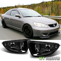 Smoked 2004-2005 Honda Civic 2/4 Dr Bumper Driving Fog Lights Lamps Left+right on sale