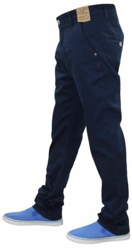Jeans da Uomo Jacksouth Chino Regular Fit Cotone Stretch Pantaloni Pantaloni Girovita 32-40