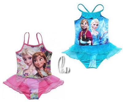 AU SELLER Girls Frozen Elsa Anna Swimwear One Piece Swimsuit Dance Leotard gs006