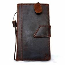Nokia Lumia 1520 Genuine Leather Flip Cover Wallet Case Handmade Hard Stand New