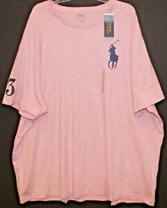 Polo-Ralph-Lauren-Big-and-Tall-Mens-LT-Pink-Heather-Big-Pony-Polo-T-Shirt-NWT-LT