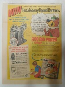 Kellogg-039-s-Cereal-Ad-Huckleberry-Hound-Cartoons-From-1960-Size-11-x-15-inches