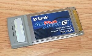 D-LINK AIR PLUS XTREME G DWL-G650 WINDOWS 7 64BIT DRIVER