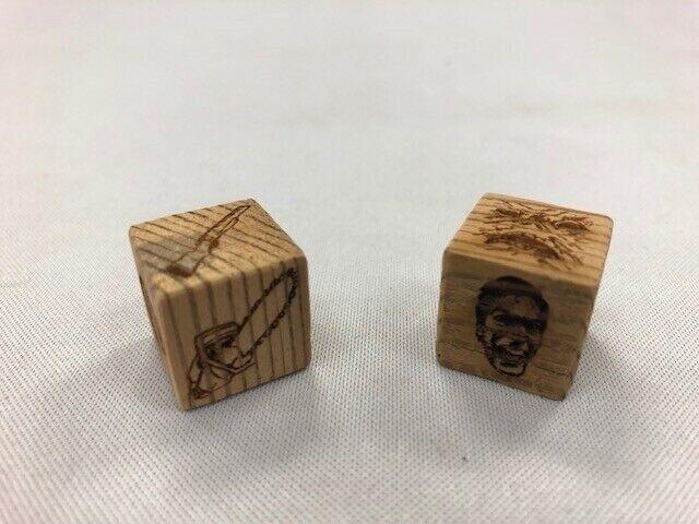Evil Dead 2 Board Game-dés en bois de Réel Film cabine