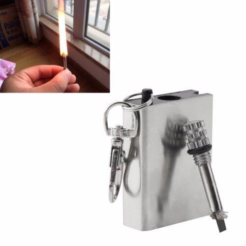 10000 Hair Emergency Fire Starter Flint Match Lighter Metal Outdoor Camping Hiki