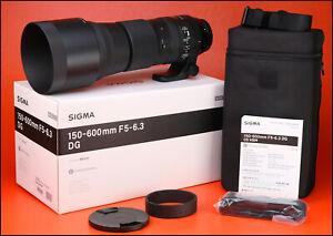 Sigma-150-600mm-F5-6-3-Lens-C-OS-per-Canon-DG-anteriore-posteriore-dell-039-obiettivo-CAPS-Cappuccio