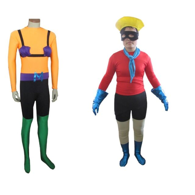 Barnacle Boy Adult Costume Spongebog Squarepants Cosplay TV Superhero Lycra Suit
