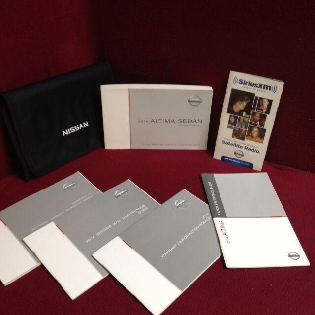 2013 Nissan Altima Sedan Owners Manual Set W Warranty Manual Guide