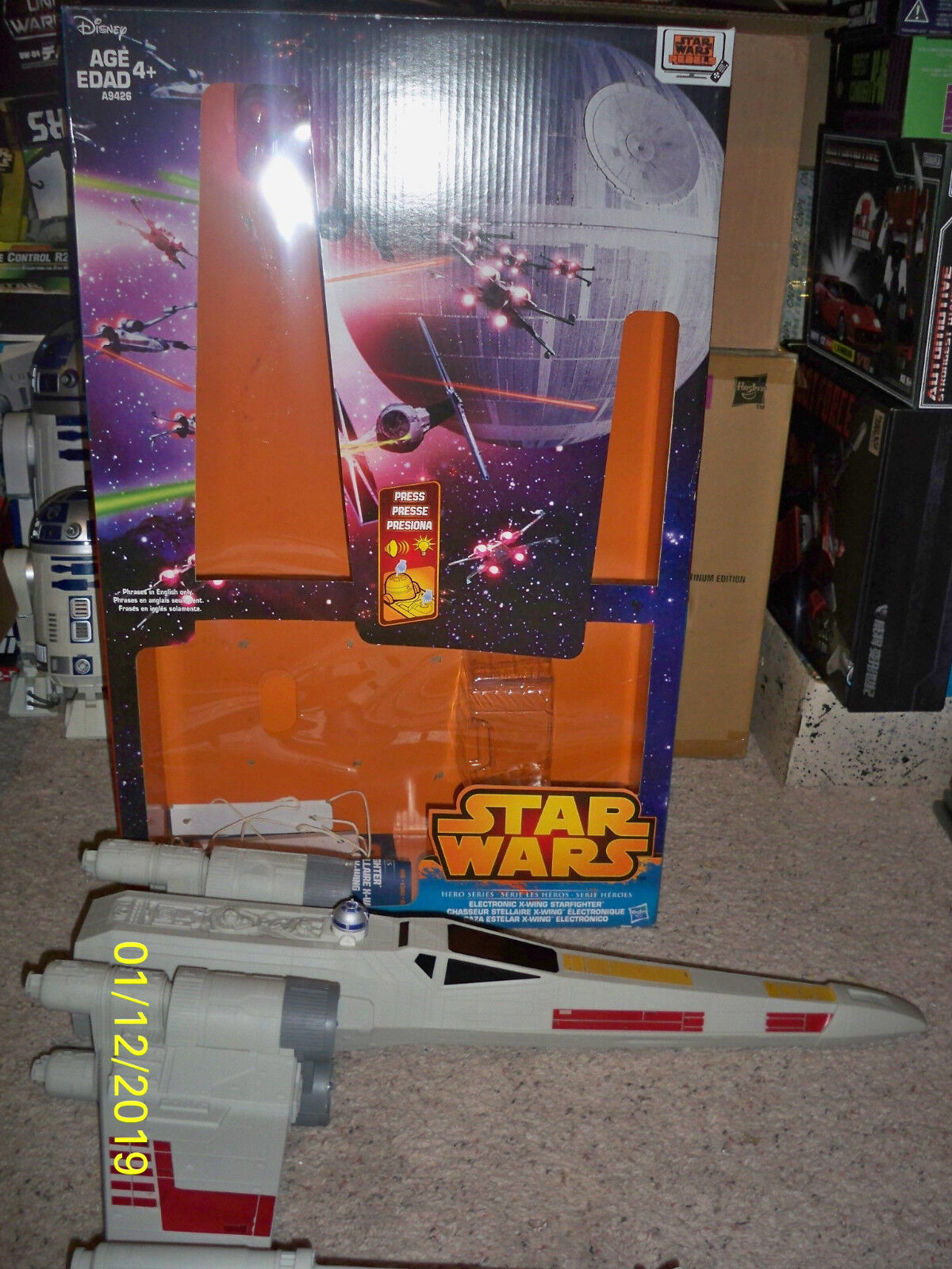 Huge Huge Huge Star Wars Xwing With Electronics sounds with opened box 555437