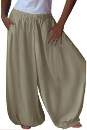 X965 Plus ampia Size Pocket Pant Moda Misses Lotustraders Boho gamba Harem 6SvfBwq