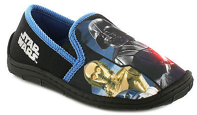 Darth Vader Star Wars luntley Clásico Zapatilla Completo Resbalón en Zapatillas de casa 7-2
