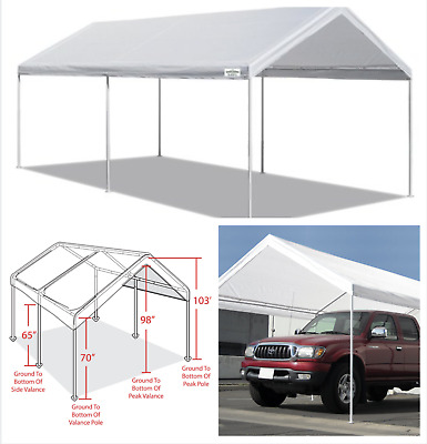 Canopy Carport 10' X 20' Heavy Duty Portable Garage Tent ...
