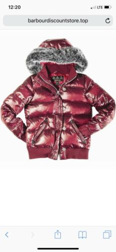 Barbour Heritage Mercury Down Puffer Bomber Red - image 1