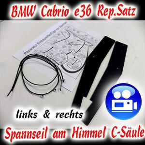 Detalles De Bmw Convertible E36 Rep Frase De Sujeción Cuerda En El Cielo C Pilar Ver Título Original