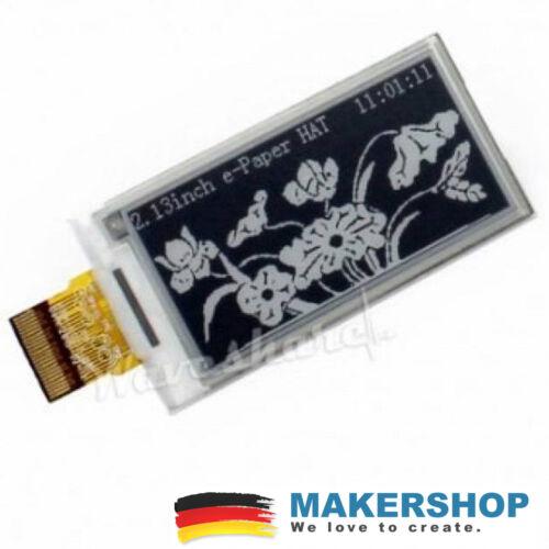 Waveshare 2.13inch Raw SPI E-Ink E-Paper Display 250x122 Raspberry Pi Arduino