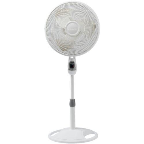 """1646 Lasko 16/"""" contrôle à distance Oscillant Support Ventilateur Avec Built-in Timer-Blanc"""