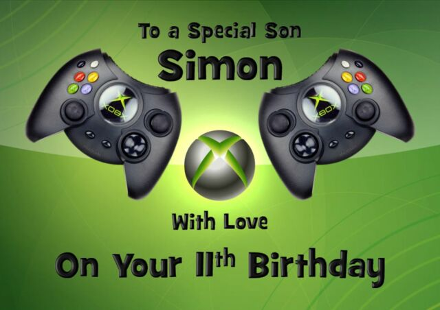 Xbox Personalised A5 Birthday Card Son Daughter Brother Niece Nephew Name Age