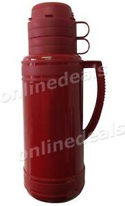Housewares 1.8 L termica tè, caffè da viaggio Pallone con 2 tazze (Rosso)  </span>