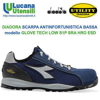 DIADORA SCARPA ANTINFORTUNISTICA mod GLOVE TECH LOW S1P SRA HRO ESD GEOX Scarpe   eBay