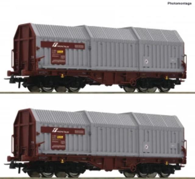 Roco 76047 HO Gauge FS Shimmns Telescopic Wall Wagon Set (2) V
