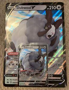 Pokemon Champions Path Dubwool V Promo Card & Jumbo