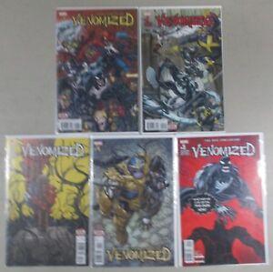 Venomized-1-2-3-4-5-Complete-Set-Run-Lot-5-Comics-Venom-Spider-Man-NM-VF-Marvel