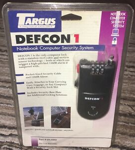NEW-Targus-PA400U-Defcon-1-Notebook-Security-System-4-digit-combo-w-110DB-Alarm