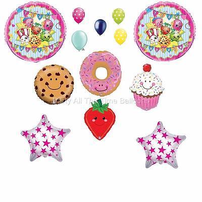 13 pc Team Shopkins Balloon Bouquet CUPCAKE strawberry Fun Mixed FREE SHIPPING
