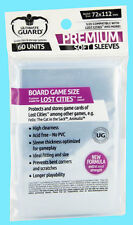 60 ULTIMATE GUARD PREMIUM LOST CITIES BOARD GAME Card SLEEVE 72x112mm Clear Soft