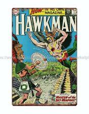 farm shop wall art MARVEL DC comic superheroes Hawkman metal tin sign