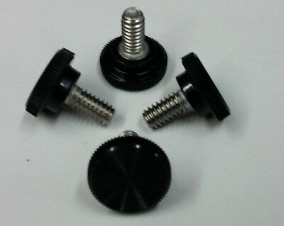 """Lot of 12 Pcs. Stainless Steel Knurled Thumb Screw  x 1//4/""""-20 Thread"""