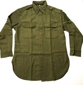 WWII-US-M1937-OFFICER-FLANNEL-FIELD-SHIRT-2XLARGE