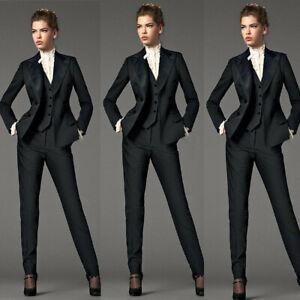 Black-3-Piece-Suits-Women-Business-Suit-Formal-Female-Office-Uniform-Ladies-Suit