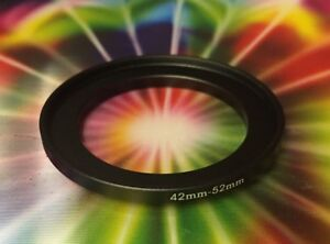 1-one-Step-Up-Filter-Ring-Adapter-Black-METAL-42mm-to-52mm-42-52-mm-M42-F52-mm