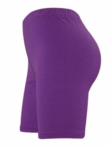 New Womens Plain Gym Active Summer Cycling Shorts Stretch Basic Short Hot Pants