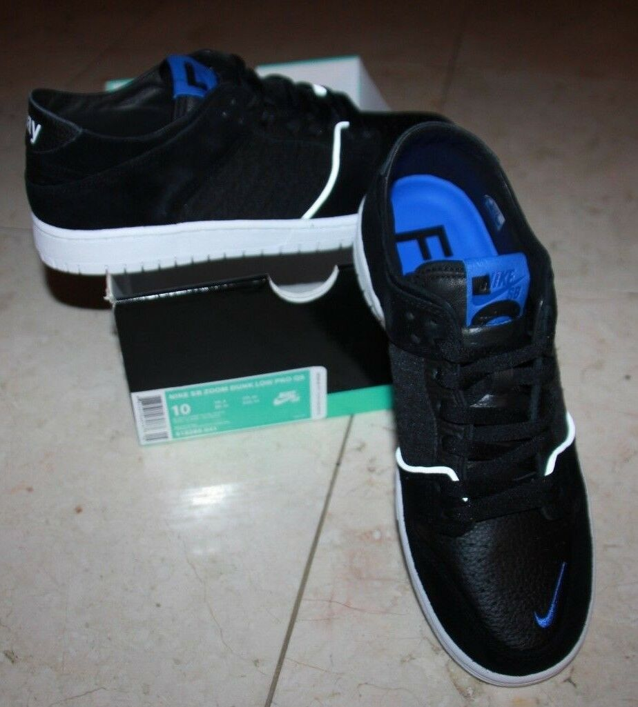 New Men's NIKE SB Zoom Dunk Low Pro QS shoes Black - Size 10