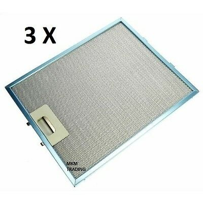 3 x Stoves Universal 320 x 260 mm Metal Cooker Hood GREASE FILTER