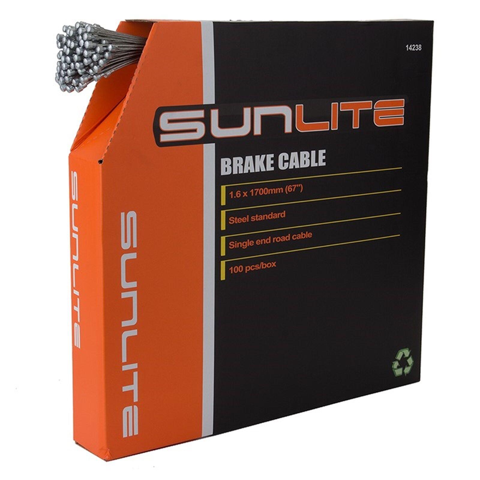 Sunlite cables de cables de freno - 1700 Mm  - 1.6 Mm-galv-Plateado - 100 Bx - Road  excelentes precios