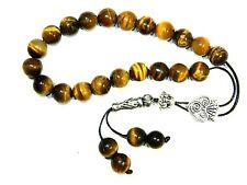 0971 - Loose String Greek Komboloi Prayer Beads Worry Beads 10mm Tiger Eye Beads
