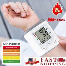 Home Heart Rate Digital Lcd Blood Pressure Monitor Bp Wrist Gauge Meter Machine
