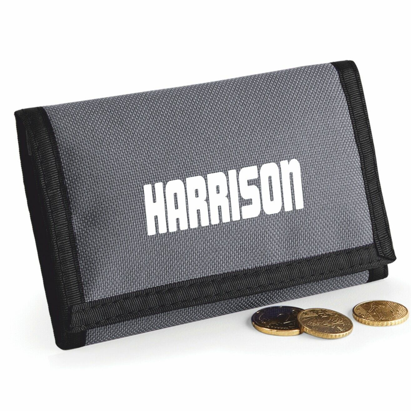 Rip Style Wallet - Printed with Name - Grey
