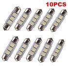 10PCS 12V White 3 LED 5050 SMD 36MM Festoon Dome Car Light Interior Lamp Bulb