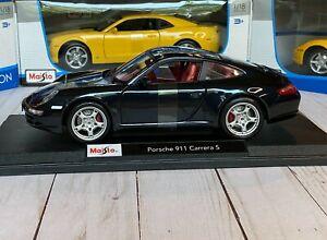 Edicion-Especial-Porsche-911-Carrera-S-1-18-Maisto-Modelo-de-Metal-Fundido-Super-Coche