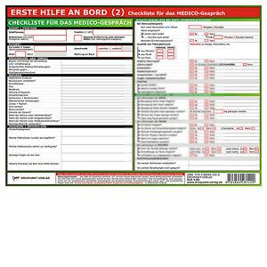 erste hilfe an bord 2 info tafel din a4 medizin checkliste 9783864481420 ebay. Black Bedroom Furniture Sets. Home Design Ideas