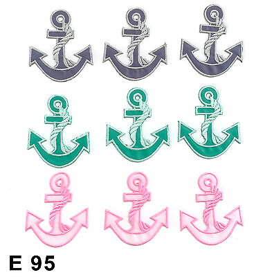 """1pc 8/"""" Large DARK GREEN Nautical ANCHOR IRON ON EMBROIDERED APPLIQUE"""